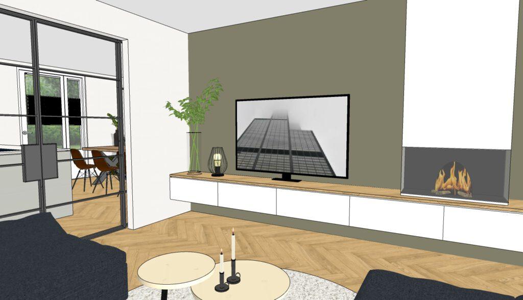 3D interieurontwerp zithoek